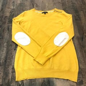 Banana Republic Yellow Sweater Elbow Patches M